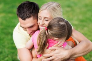 Family-Hugging